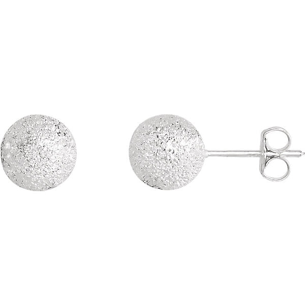 Ball Studs - Silver Sparkle