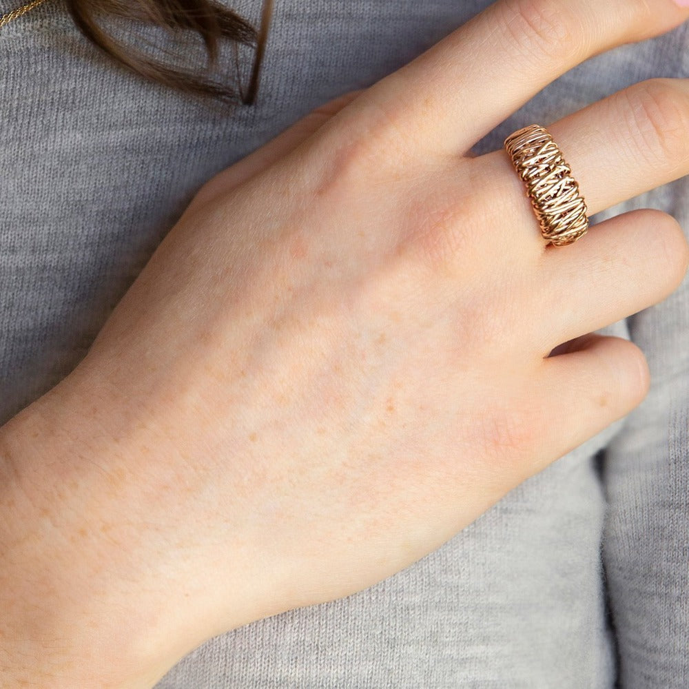 The Everyday Ring | Magpie Jewellery | Rose Gold | On Model