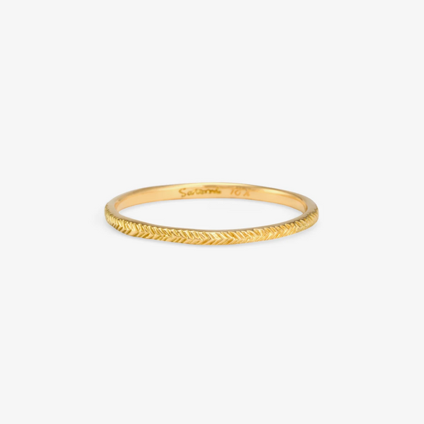 Herringbone Band | Magpie Jewellery 18k Yellow