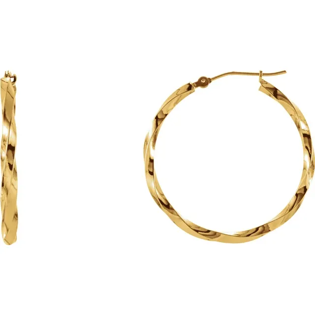 Twisted Gold Hoops 14k | Magpie Jewellery