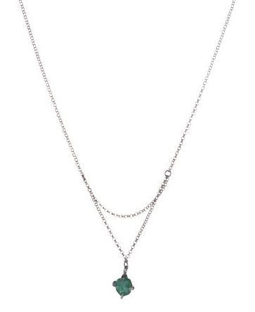 Raw Emerald Necklace