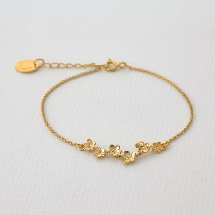 Forget Me Not Bracelet | Magpie Jewellery Gold Plated
