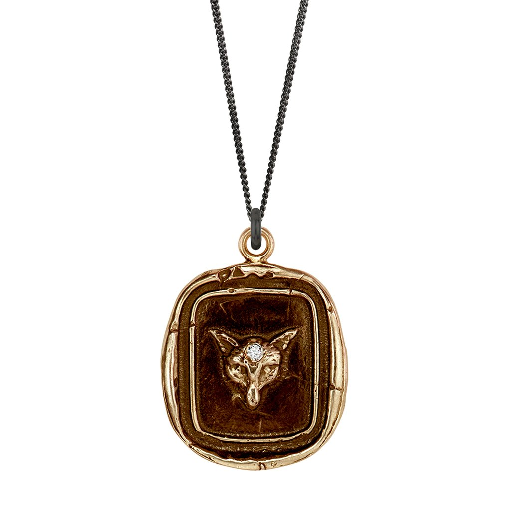Fox Diamond Set Talisman