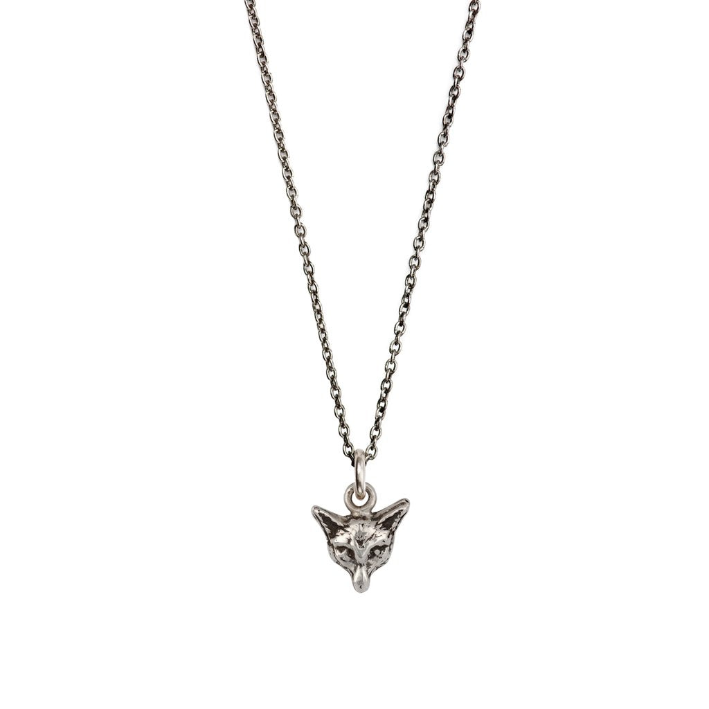 Fox Charm Necklace Silver | Magpie Jewellery
