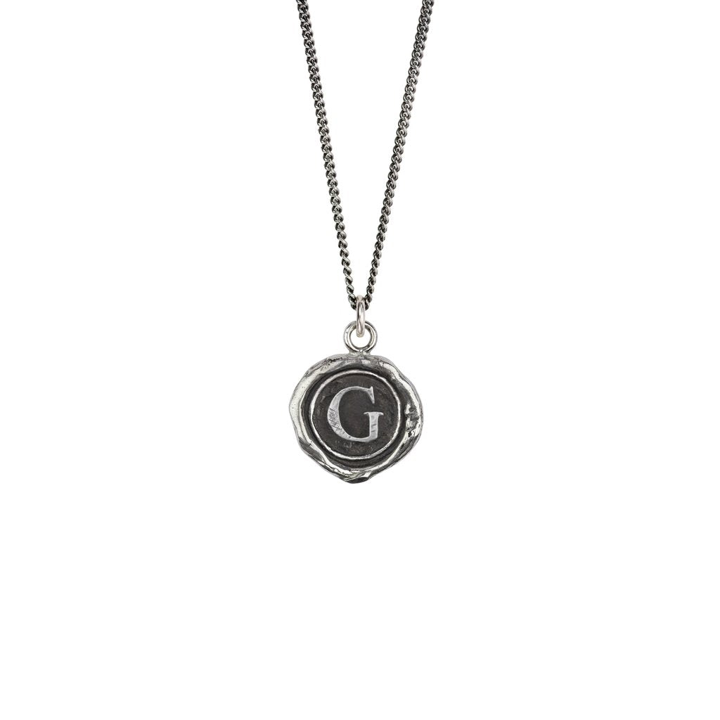 Initial G Talisman Silver | Magpie Jewellery