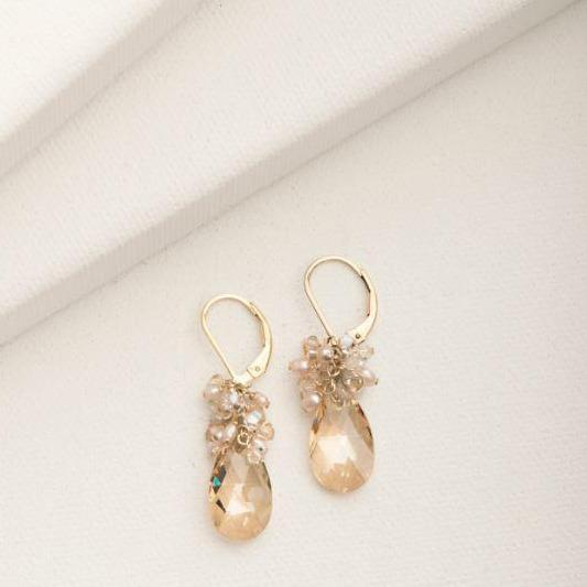 Mini Scarlet Earring in Blush Gold | Magpie Jewellery