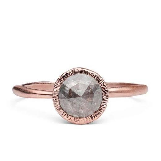 Eclipse Solitaire Diamond & Gold Engagement Ring | Magpie Jewellery
