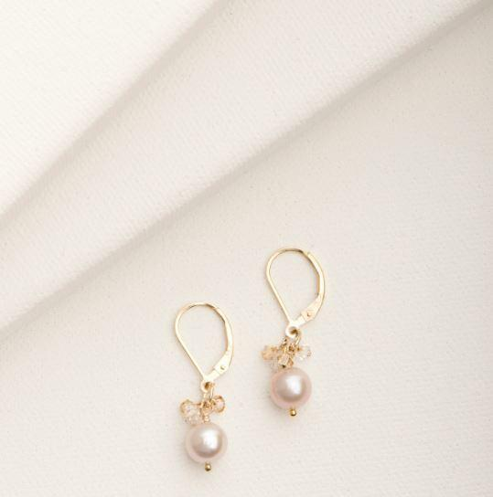 Mini Cluster Earrings | Magpie Jewellery Blush Pearl