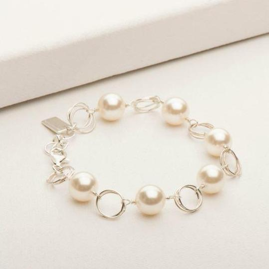 Ashley Pearl Bracelet Silver | Magpie Jewellery