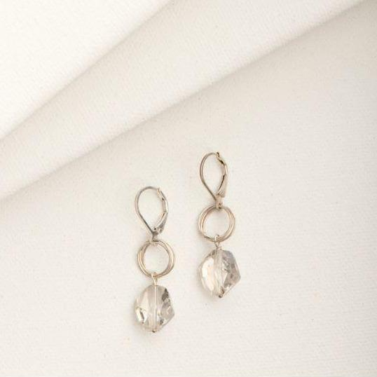 Ashley Earring in Crystal Silver | Magpie Jewellery