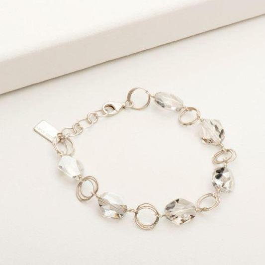 Ashley Bracelet in Crystal Silver | Magpie Jewellery