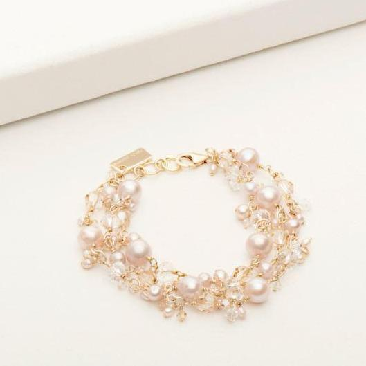 Andrea Bracelet Blush Pearl and Gold Fill | Magpie Jewellery