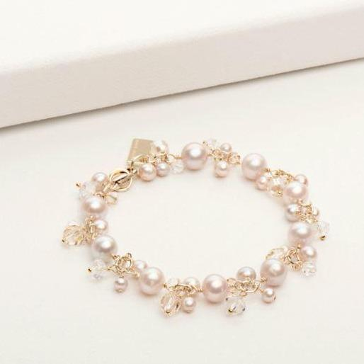 Victoria Bracelet in Blush Pearl Gold | Magpie Jewellery