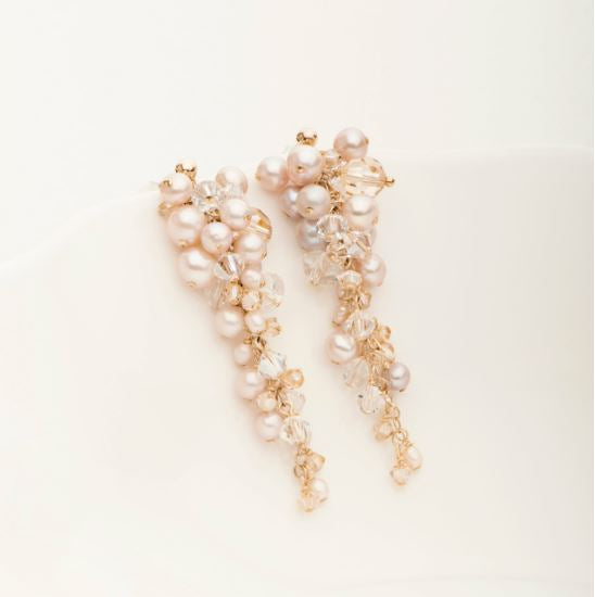 Cha Cha Earring Gold Fill and Blush Pearl | Magpie Jewellery