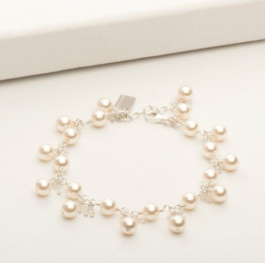 Emma Bracelet Silver and White Pearl | Magpie Jewellery