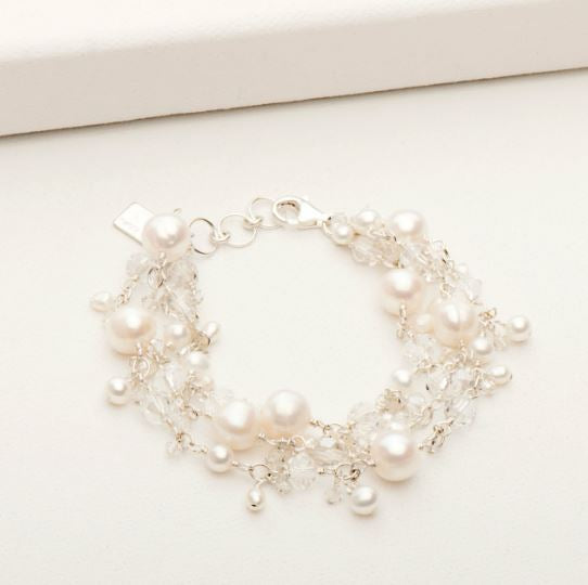 Andrea Bracelet Silver and White Pearl | Magpie Jewellery