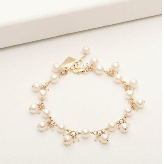 Emma Bracelet Goldfill with White Pearl | Magpie Jewellery