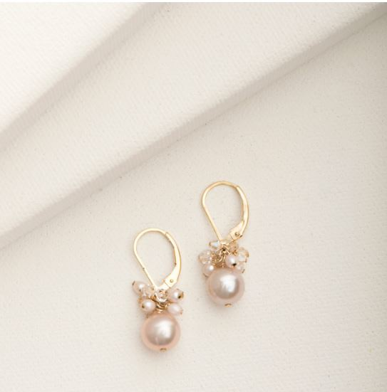 Jillian Pearl Earring Goldfill and Blush Pearl | Magpie Jewellery