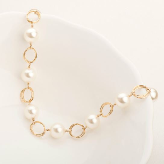 Ashley Pearl Necklace Gold Fill | Magpie Jewellery