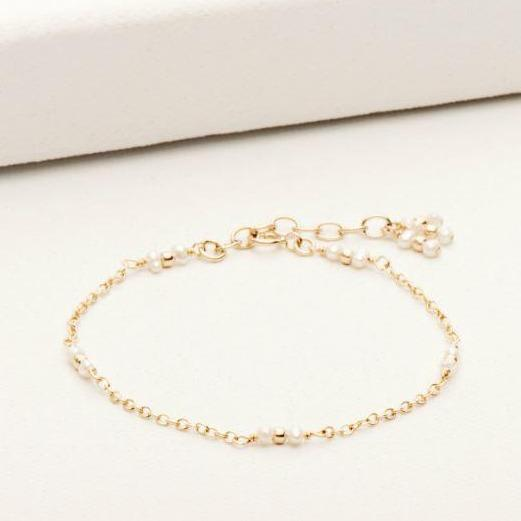 Staccato Bracelet w/ Petite Pearls Gold Fill | Magpie Jewellery