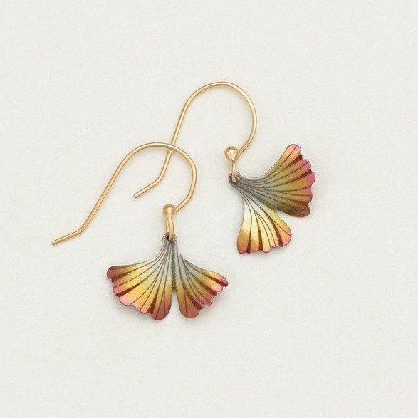 Petite Ginkgo Earrings Peach