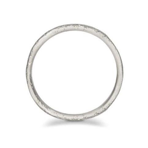 Arena Organic Flat Gold Wedding Band