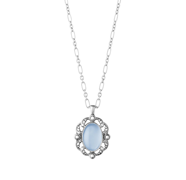 2018 Heritage Pendant with Blue Chalcedony