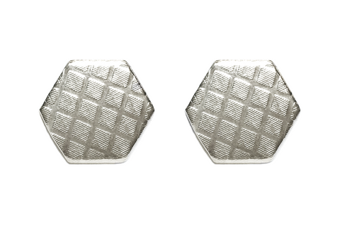 Cross-Hatch Hexagon Stud