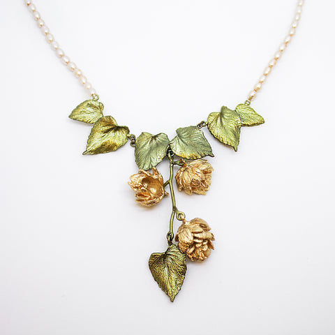 HOPS NECKLACE - DANGLE PEARLS