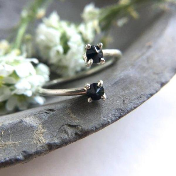 Silver Spinel Wrap Ring | Magpie Jewellery