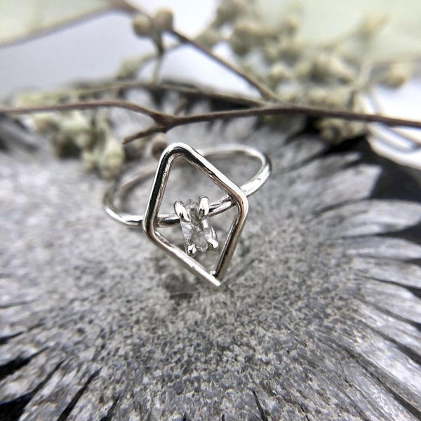 Herkimer Diamond Ring | Magpie Jewellery | Silver
