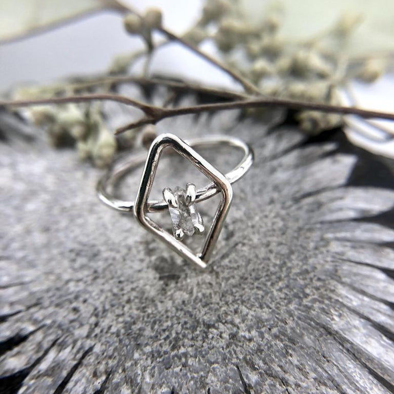 Herkimer Diamond Ring | Magpie Jewellery