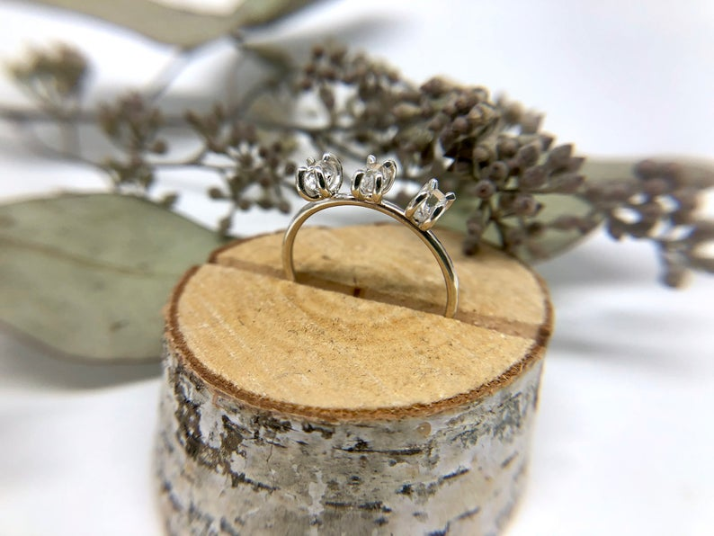 Triple Herkimer Diamond Ring | Magpie Jewellery