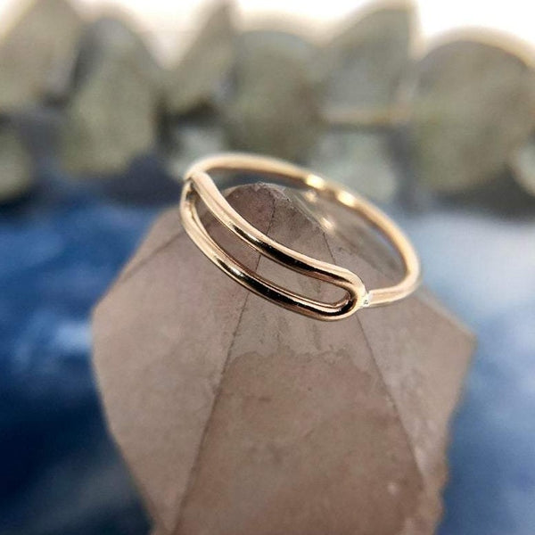 Shape Ring | Magpie Jewellery | Gold-FIll