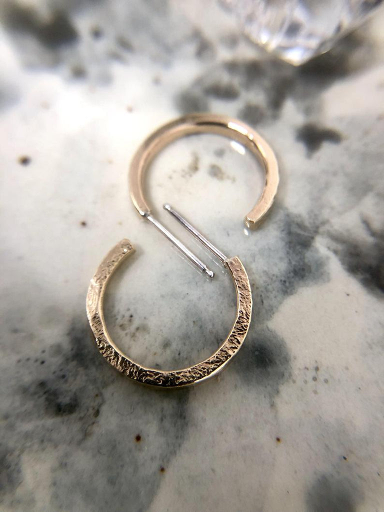 Textured Hoops | Magpie Jewellery | Gold-Fill