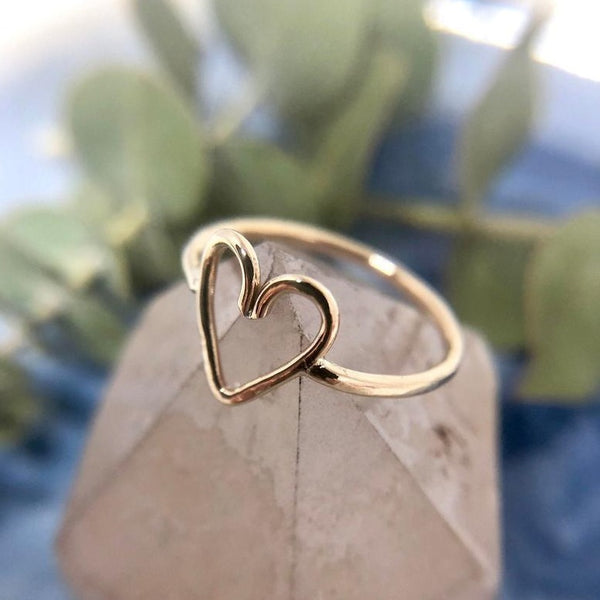Small Heart Ring | Magpie Jewellery | Gold
