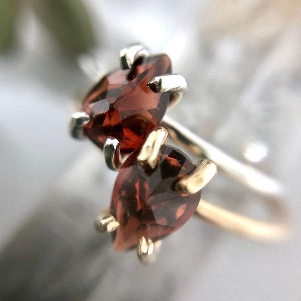 Pear Shaped Garnet Ring | Magpie Jewellery