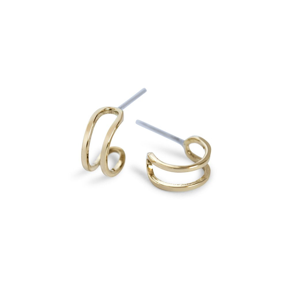 Double Bar Hoop Stud | Magpie Jewellery