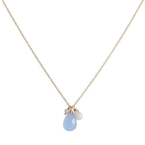 Isabel Necklace - Lavender Chalcedony