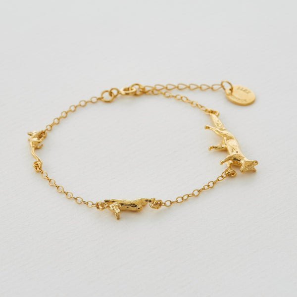 Fox, Rabbit & Mouse Chase Bracelet