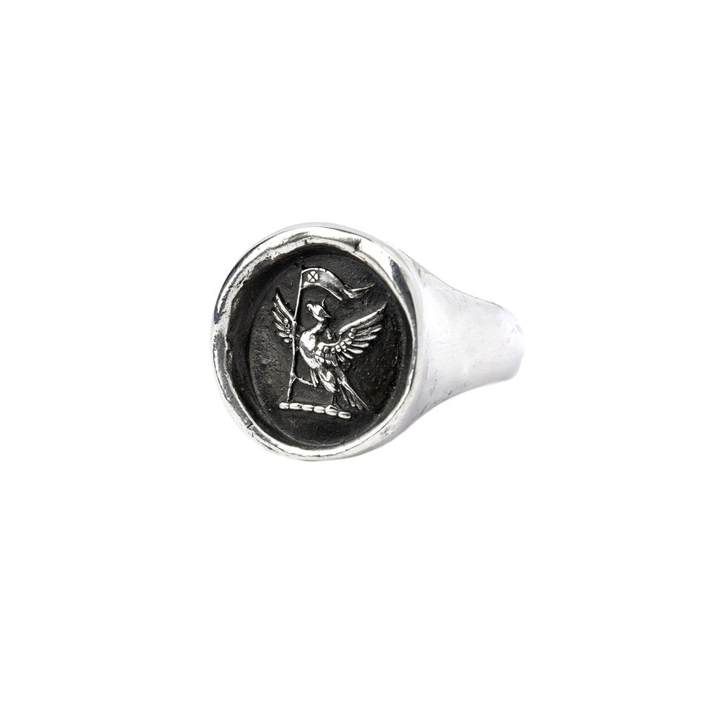 Never Settle Signet Ring | Magpie Jewellery