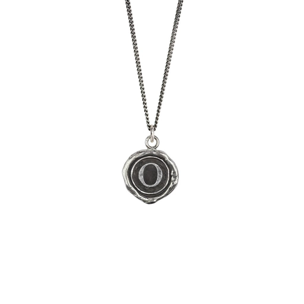 Initial O Talisman Silver | Magpie Jewellery