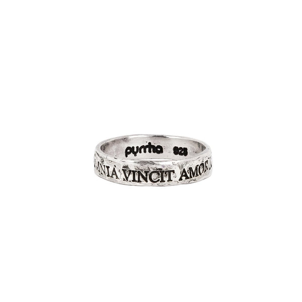 Omnia Vincit Amor (Love Conquers All) Band Ring | Magpie Jewellery