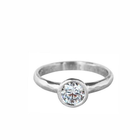 Organic Solitaire Ring