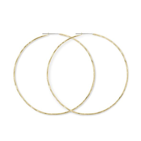 Carladonna Hammered Hoops | Magpie Jewellery