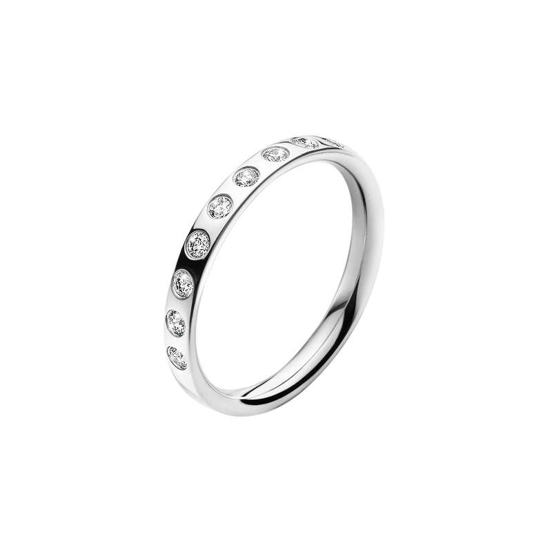 MAGIC RING - 18 kt. White gold with brilliant cut diamonds