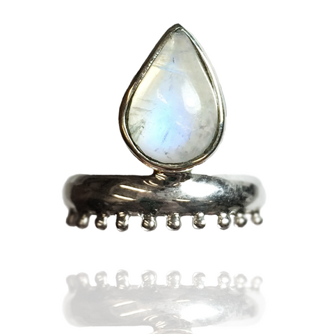 'Queen Bae' Moonstone Ring