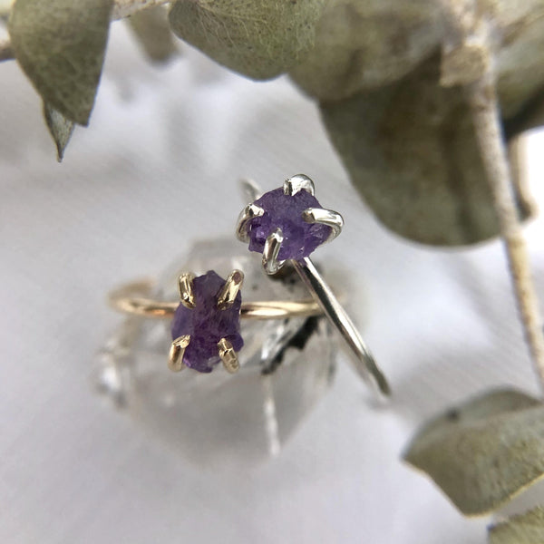 Raw Amethyst Ring