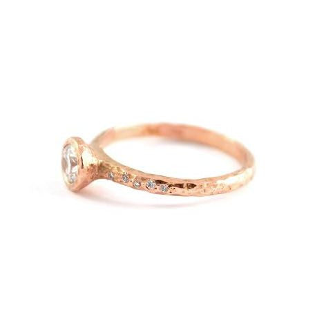 Rose Gold Shimmering Dream Diamond Solitaire