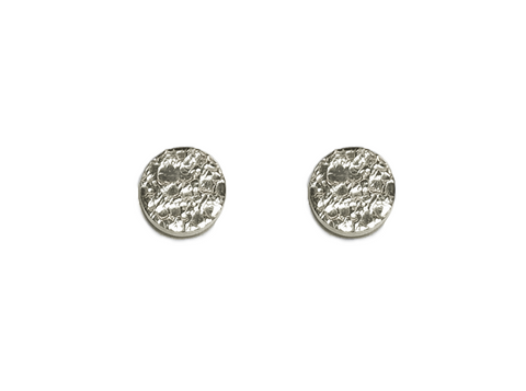 Small Moon Textured Disc Stud